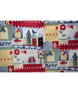 Cafe Curtains Country Cat Kitty Design 2 Panels 29 X 39 - $8.99