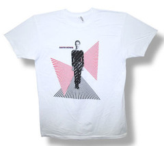 David Bowie-Futuristic Perspective-XXL White Lightweight  T-shirt - $22.24