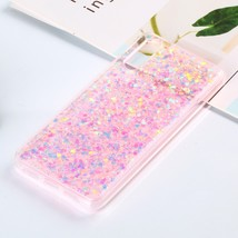 Colorful Glitter Powder Style Protective Soft Cover for Huawei P20 (Pink) - $3.31