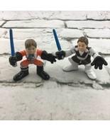 Star Wars Galactic Heroes Mini Figures Luke Skywalker Obi Won Kenobi Has... - $11.88
