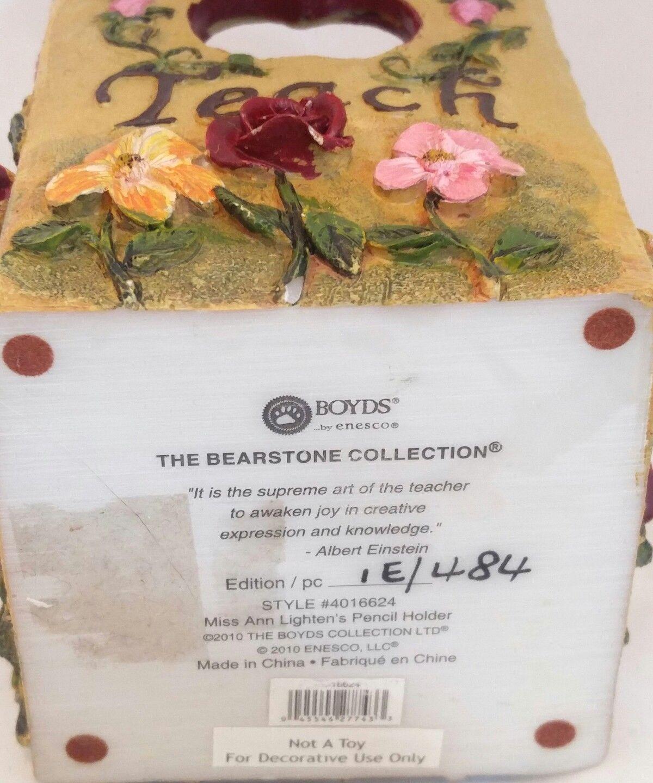 The Bearstone Collection Miss Ann Lighten's Pencil Holder #4016624 Teacher Gift image 11