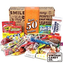 VINTAGE CANDY CO. 50TH BIRTHDAY RETRO CANDY GIFT BOX - 1969 Decade Nosta... - $39.59