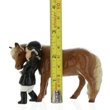Hagen Renaker Specialty  Horse Girl and Her Pony Ceramic Figurine image 2