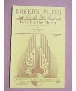 Four For the Money Baker's Plays For Amateurs 1956 Play - $11.99
