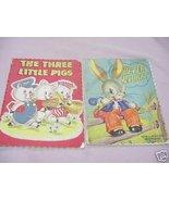 The Three Little Pigs & Peter Rabbit 1940s/50s Whitman - $14.99