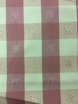 Red and White Check with Bee Motif Upholstery Fabric 1 yard - $19.00