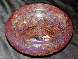 Ice Pink Diamond & Lace Rose Bowl Lenox Imperial Glass (LIG) AA20-CD0095... - $89.95