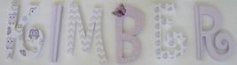 Lavender Owls-Wood Letters-Nursery Decor- Price Per Letter- Lavender Woo... - $12.50