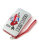 "Glitter ""I Love Brit Boys"" Smartphone Wristlet One Direction - NEW - $14.99"