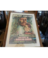 The African Queen Framed Poster Reprint from 1978 in French Bogart & Hep... - $222.75