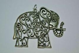 Vintage Big Elephant Pendant . - $16.73