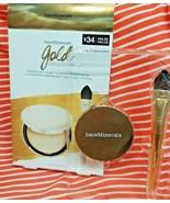 bareMinerals GOLD OBSESSION SET Chandelight Illuminator + Brush Highligh... - $22.75