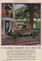 Orig Vintage Magazine AD/ 1930 Ford Sport Coupe - $13.00