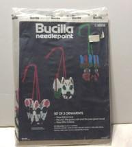 Vtg Bucilla Needlepoint Ornaments 3 Blind Mice Owl Pussycat 3 Little Indians NIP - $28.04