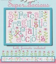 Super...docious fun whimsical cross stitch chart Sue Hillis Designs - $9.00