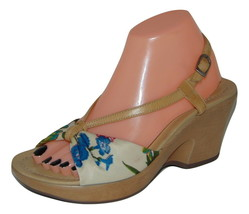 DANSKO Floral Fabric and Leather Sandals sz 38 7.5 - 8 - $43.35