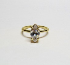 14KT 14K Yellow Gold 1.6 Carat Cubic Zirconia CZ Marquise Stone Ring   2... - $123.75
