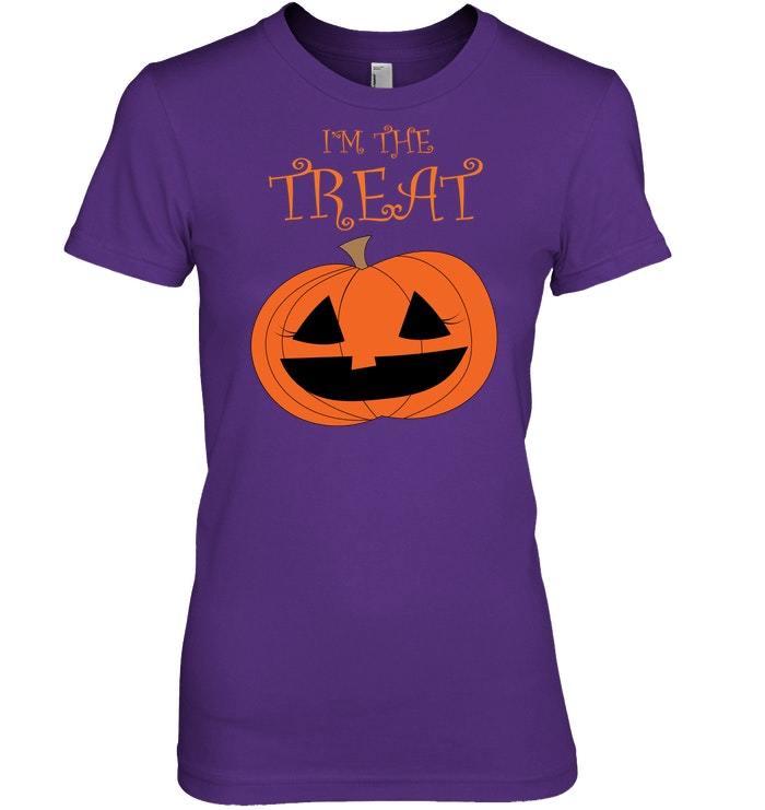 Funny Halloween Pumpkin Girl Im The Treat Tshirt