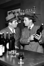Robert Stack and Paul Picerni in The Untouchables in Bar Holding Booze Bottles 2 - $23.99
