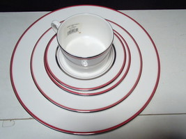 NEW! Lenox Kate Spade Library Lane Coral 5pc Place Setting-Discontinued ... - $54.99