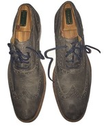 Men's Cole Haan Cambridge Oxford C12422 Gray Leather Wingtip Shoes SZ 10 - $69.29