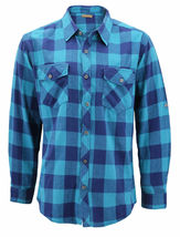 Men's Premium Cotton Button Up Long Sleeve Plaid Comfortable Flannel Shirt image 5