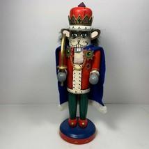 "Rat King Nutcracker Village 1997 May Dept Stores 9"" Christmas Decor Wooden - $24.74"