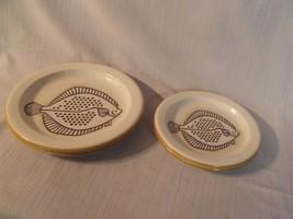 (4) Mikasa 1978 Boutique 'fish Tale' Japan Stoneware Plates ~ Nos ~ Htf - $49.50