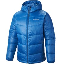 COLUMBIA Mens BIG 1X 2X Gold 650 TurboDown Down Hooded Jacket Winter Hyp... - $89.57