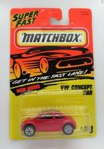 #49 Matchbox VW Concept Car Red Super Fast - $8.90