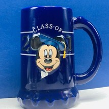 Mickey Mouse Graduation mug cup class 2001 blue walt disney beer stein d... - $23.96