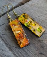 SOLD- earrings, Murano earrings, enamel, colourful earrings, Art E758 - $26.99