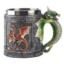 3D Dragon Mug Stainless Steel Double Liner Drinking Coffee Milk Tea Cup - $32.94