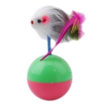 Pet Toy Mini Fur Mouse Tumbler Durable Plastic Ball Cat Kitten Funny Pla... - $6.91