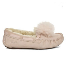 Ugg Dakota Pom Pom Quartz Shearling Lined Slippers Us 7 / Eu 38 / Uk 5 - $89.00