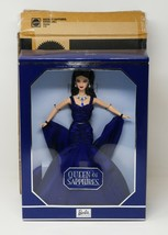 Mattel 2000 Royal Jewels Collection Queen of Sapphires Barbie Doll w/Swa... - $85.49