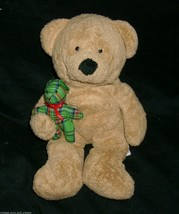 Ty Pluffies 2005 Baby Beary Merry Teddy Bear Tan Brown Stuffed Animal Plush Toy - $11.30