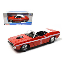 1970 Dodge Challenger R/T Coupe Red 1/24 Diecast Model Car by Maisto 31263r - $29.61