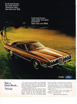 Vintage 1971 Magazine Ad Ford Where Quiet Is Built In To Stay LTD Strong & Solid - $5.93