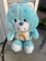 "Vintage 1983 Kenner Care Bear WISH BEAR Plush 13"" Blue Shooting Star Ver... - $14.85"