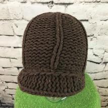 Unisex One Sz Hat Brown Knit Beanie w/Brim Warm Winter Wool Blend Cap - $14.84