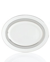 Martha Stewart with Wedgwood French Knot Silver Oval Serving Platter NEW - $54.00