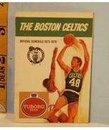 1975-76 Boston Celtics Basketball Schedule Tuborg Beer #E - $8.86