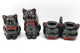 3 Mid Century Shafford Cat Figure Redware Tableware Matched Set Made In ... - $42.06