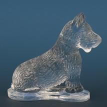 Vintage Smith Glass Miniature Crystal Dog Scottish Terrier image 2