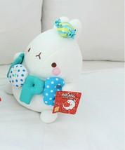 Molang Melody Plush Figure Toy Stuffed Animal Rabbit Cushion 9.8 inches (Blue) image 2