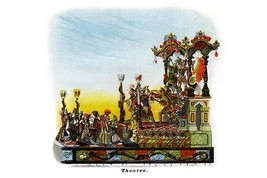 Theatre - Mardi Gras Parade Float Design - Art Print - $19.99+