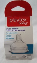 Playtex Baby 2 Silicone Nipples Full Sized Wider Mouths 3-6 Months Fast BPA Free - $10.88