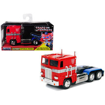 G1 Autobot Optimus Prime Truck Red with Robot on Chassis from Transforme... - $15.86