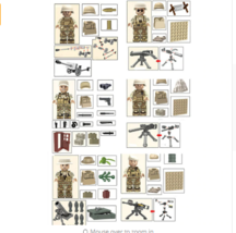 6pcs WW2 Soldiers Military Army Weapon SWAT Special Forces LEGO Building... - $19.99